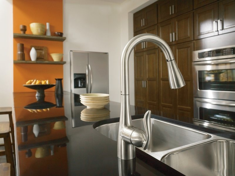 caldwell faucet larger two kitchen chrome view with ca side handle moen of faucets spray types