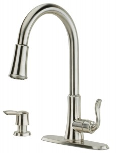 pfister pull down kitchen faucets
