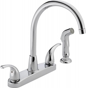 peerless two handle kitchen faucets