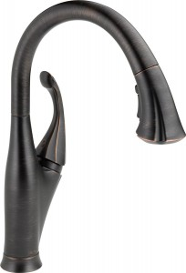 delta oil rubbed bronze kitchen faucet