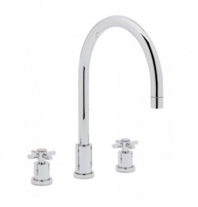 two handled kitchen faucets