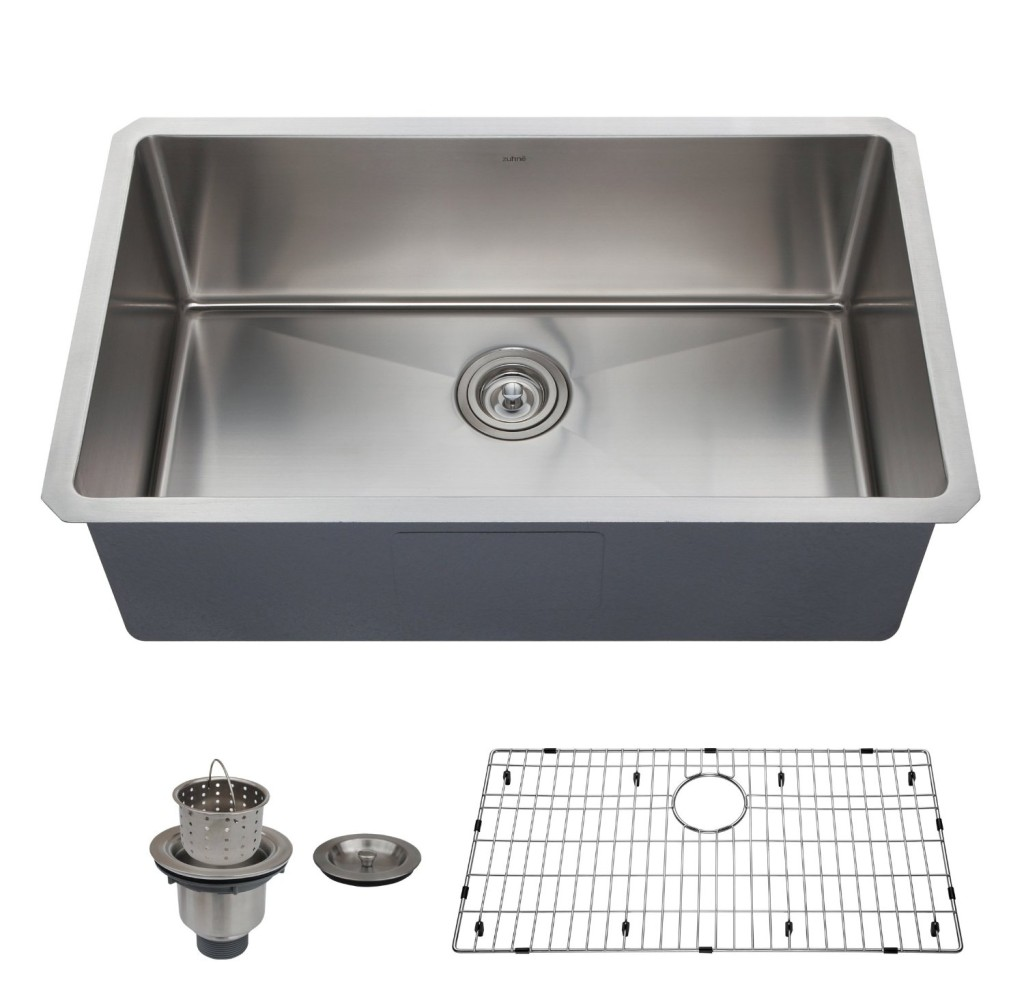 Single Kitchen Sinks Best single bowl kitchen sink reviews buying guide bkfh zuhne 32 inch undermount deep single bowl 16 gauge stainless steel kitchen sink workwithnaturefo