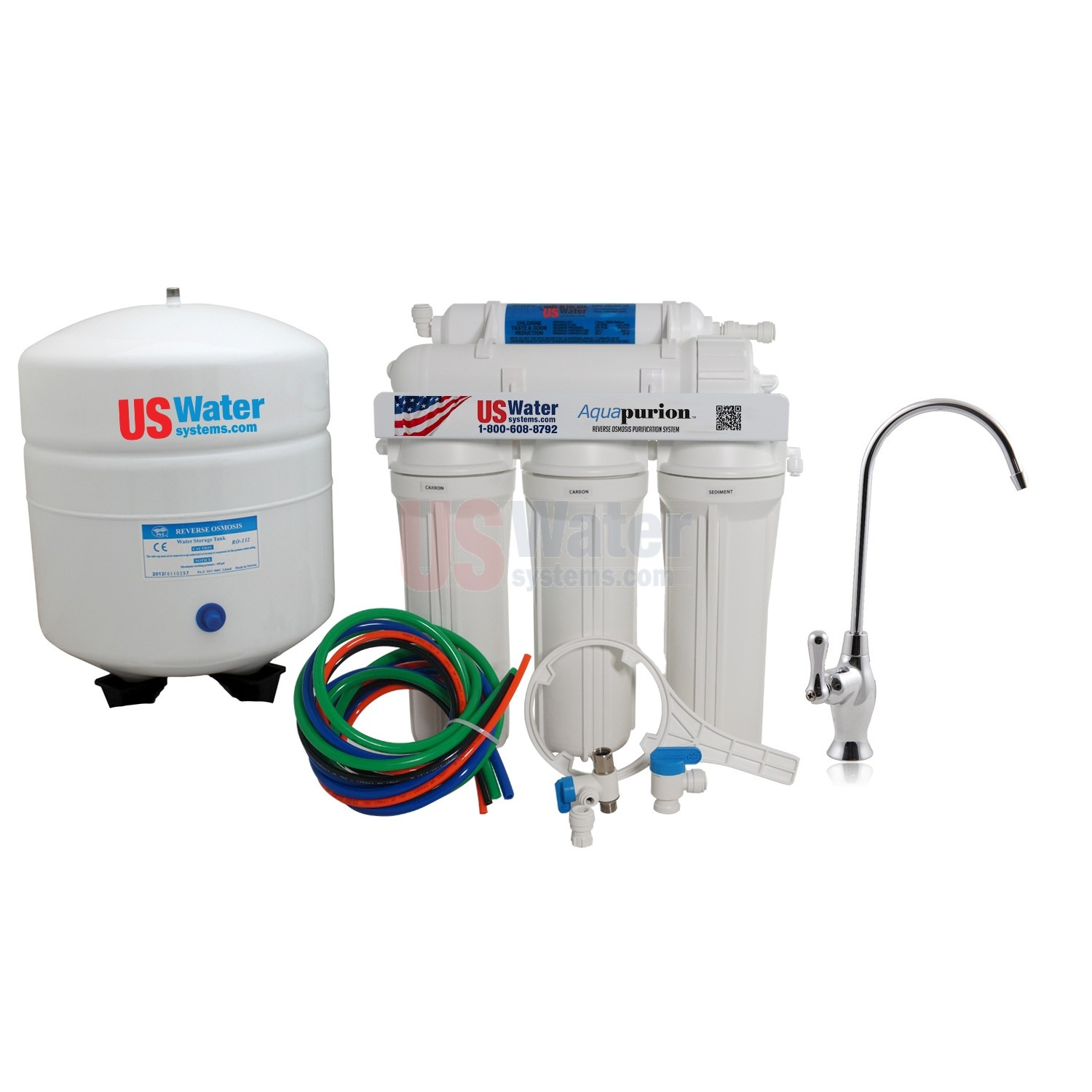 white reverse osmosis filters