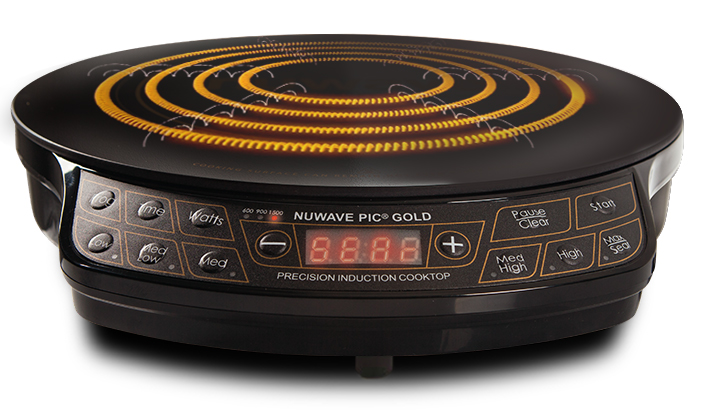 the nuwave induction cooktop pic gold model